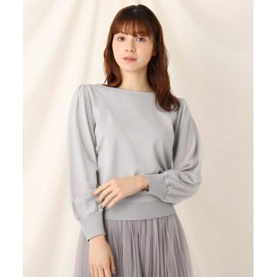 Couture brooch / チュールスリーブニット WOMEN トップス > ニット/セーター