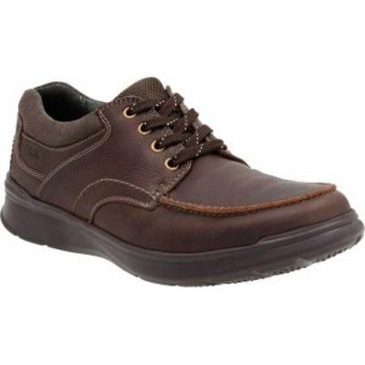 クラークス メンズ スニーカー シューズ Men's Clarks Cotrell Edge Lace Up Shoe Brown Oily Cow Full Grain Leather