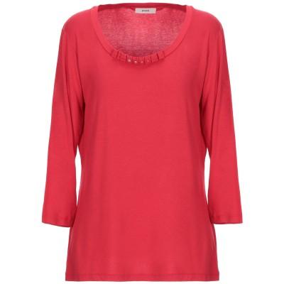 PERSONA T シャツ レッド S レーヨン 95% / ポリウレタン 5% T シャツ