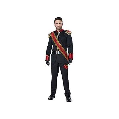 California Costumes Men's Dark Prince Adult Man Costume, black/burgundy, Ex