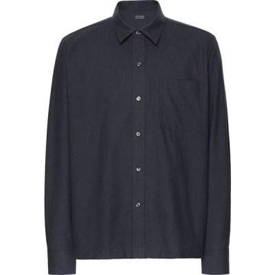 オット バイ ユークス 8 by YOOX メンズ シャツ トップス solid color shirt Steel grey
