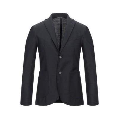 GAETANO AIELLO テーラードジャケット ブラック 44 バージンウール 100% テーラードジャケット