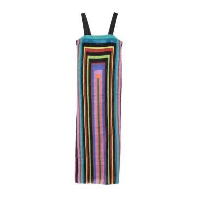 AGOGOA ロングワンピース&ドレス ブラック 42 ポリエステル 100% ロングワンピース&ドレス