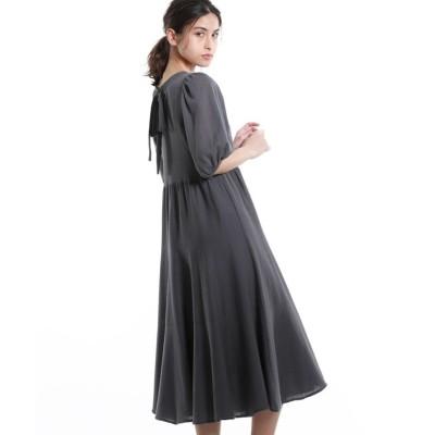 【エポカ ザ ショップ】 バックティアードデザインドレス レディース グレー5 40 EPOCA THE SHOP