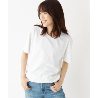 【オペークドットクリップ】 ゆったりシルエットロングTシャツ レディース ホワイト 99 OPAQUE.CLIP