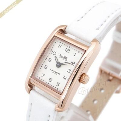 《最大1500円クーポン》コーチ COACH レディース腕時計 トンプソン スクエア ゴールド×ホワイト 14502298