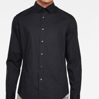 ジースター メンズ ファッション DRESSED SUPER SLIM SHIRT L¥S - Shirt - dk black