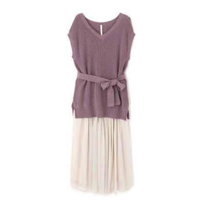 《EDITCOLOGNE》ニットベスト×スカート