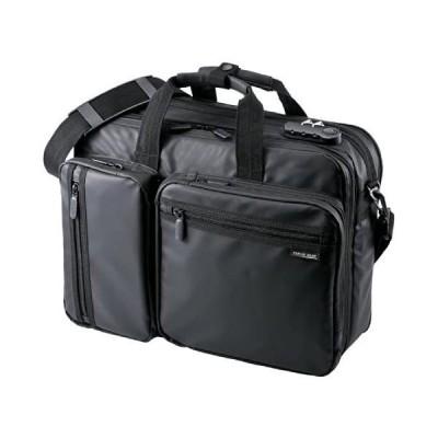 サンワダイレクト 3WAYビジネスバッグ 耐水素材 20L PCバッグ 200-BAG048WP (ブラック 20L(耐水))