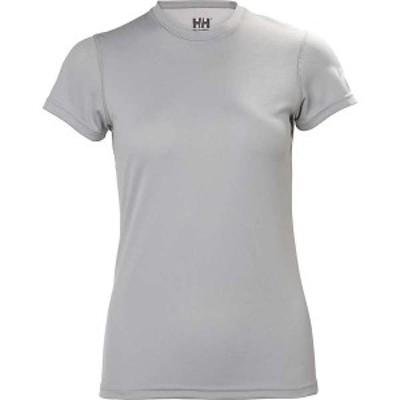 ヘリーハンセン レディース Tシャツ トップス Helly Hansen Women's HH Tech T-Shirt LIGHT GREY