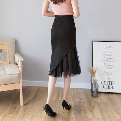 春夏スカート 魚尾のスカート 半身のスカート腰を高 着やせ黒いロングスカートヒップを包む タイトスカート ロング 通勤 大人 上品高い弾力ロングスカートAQ5