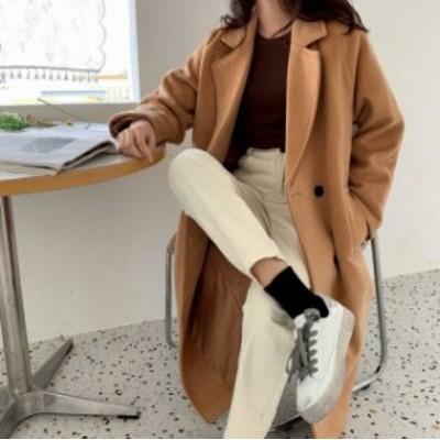 2色 チェスターコート アウター オーバーサイズ ゆったり シンプル カジュアル 通勤 大人可愛い 韓国 オルチャン ファッション