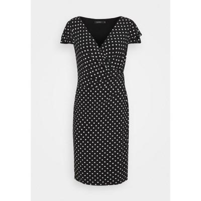 ラルフローレン ワンピース レディース トップス PRINTED MATTE DRESS - Shift dress - black