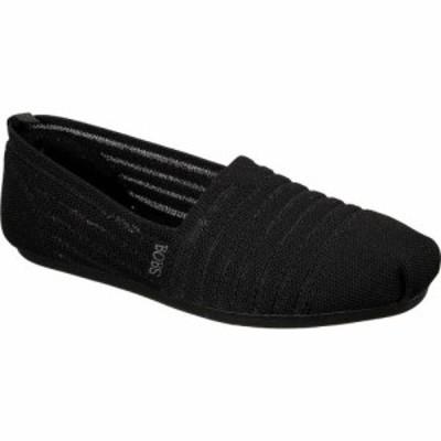 スケッチャーズ Skechers レディース シューズ・靴 BOBS Plush Golden Hour Alpargata Black/Black