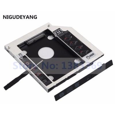 送料無料 Nigudeyangセカンドhdd ssdハードディスクドライブフレームキャディーアダプタ用のacer aspire e5-521 seri