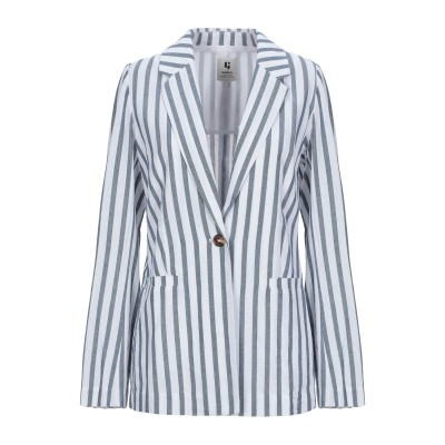 GARCIA テーラードジャケット ブルーグレー XS レーヨン 100% テーラードジャケット