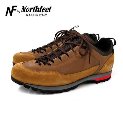 NF by NorthFeetメンズ レザースニーカー(TIBET)キャメル ビブラムソール アウトドア イタリア製