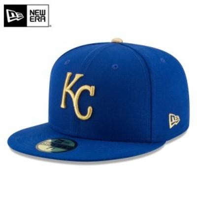 【T】【メーカー取次】 NEW ERA ニューエラ 59FIFTY MLB On-Field カンザスシティ・ロイヤルズ ブルー 11449369 キャップ / ミリタリー