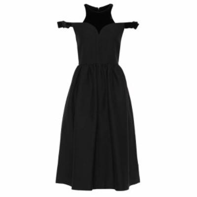 フェンディ Fendi レディース ワンピース ワンピース・ドレス Wool and silk dress Black