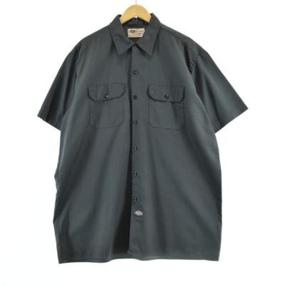 ディッキーズ Dickies 半袖 ワークシャツ メンズXL /eaa051220