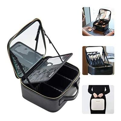 Rownyeon メイクボックス 鏡付き 大容量 プロ仕様 コスメボックス 化粧箱 持ち運び ドレッサー コンパクト 鏡台 化粧品収納ボック