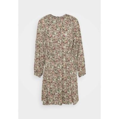 オンリー ワンピース レディース トップス ONLKENDALL  - Day dress - pumice stone/green flower