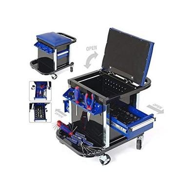 SISHUINIANHUA 135PC Tool Set Movable Workbench Seat Car Repair Tool Stool S