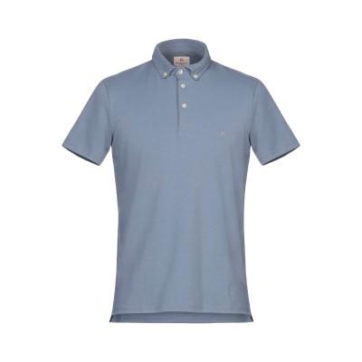 バグッタ BAGUTTA ポロシャツ ブルーグレー M コットン 90% / ポリウレタン 10% ポロシャツ