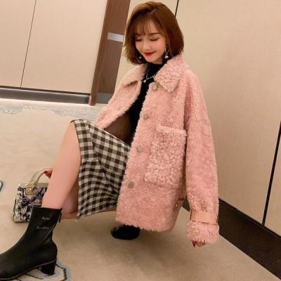ボアジャケット モコモコ アウター フェミニン 可愛い ピンク 送料無料商品
