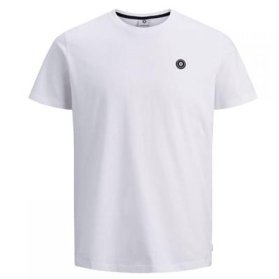 ジャック&ジョーンズ Jack and Jones メンズ Tシャツ トップス Andres Crew T Shirt White
