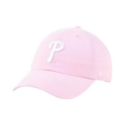 47ブランド レディース 帽子 アクセサリー Philadelphia Phillies Pink CLEAN UP Cap