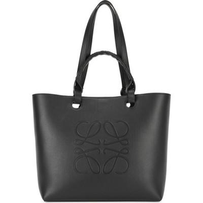 ロエベ Loewe レディース トートバッグ バッグ anagram black leather tote Black