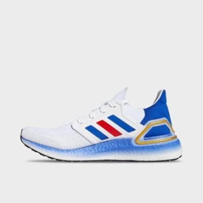 アディダス メンズ ウルトラブースト 20 adidas Ultra Boost 20 ランニングシューズ White/Team Royal Blue