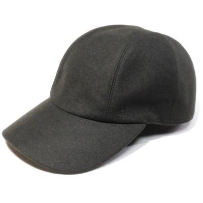 エルメス マイルス カシミヤ カーキ メンズキャスケット 帽子 HERMES