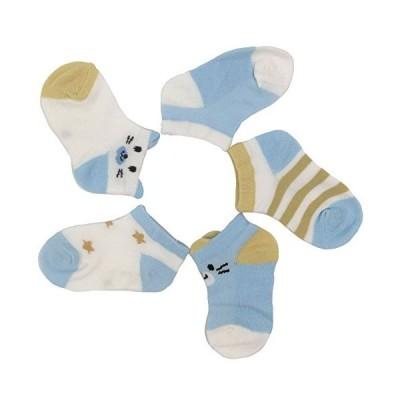 IFSUN「5足セット」 夏用 子供ソックス キッズ靴下 スニーカー メッシュ 可愛い 赤ちゃん ベビー 女子 男子 綿 通気性 速乾 抗菌
