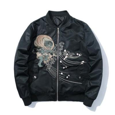 スカジャン 刺繍ジャケット メンズジャケット ブルゾン フライトジャケット MA-1 カジュアル ジャンパー スタジャン ミリタリフライトジャケット春秋冬 防寒 C88