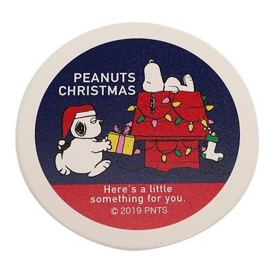スヌーピー コースター 磁器製 吸水コースター プレゼントブラザー XMAS ピーナッツ マリモクラフト クリスマスプレゼント プチギフト キャラクターグッズ通販 メール便可シネマコレクション