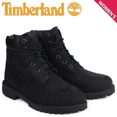 Timberland レディース ブーツ 6インチ ティンバーランド 6INCH WATERPROOF BOOTS プレミアム ウォータープルーフ 12907 ブラック