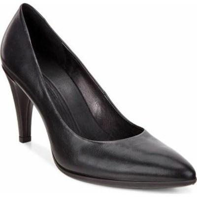 エコー レディース ヒール シューズ Shape 75 Pointy Pump Black Calf Leather