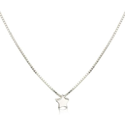 CISHOP レディース ネックレス 微小な星 スター ペンダント シルバー925 銀 ネックレスチェーン アクセサリー