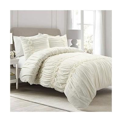 Lush Decor, Ivory Darla 3 Piece Comforter Set, King平行輸入
