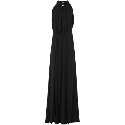 CASTING ロングワンピース&ドレス ブラック 46 ポリエステル 100% ロングワンピース&ドレス