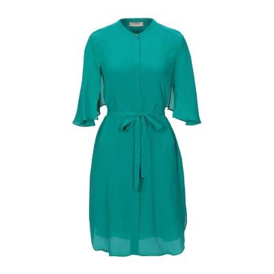 ツインセット シモーナ バルビエリ TWINSET ミニワンピース&ドレス エメラルドグリーン 40 レーヨン 66% / シルク 34% ミニワン