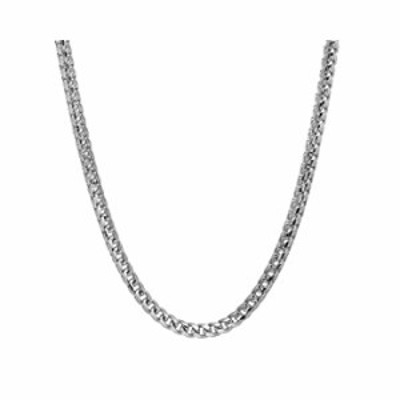 Sterling Silver 2.5MM-5MM Solid Franco Chain Necklace, Square Box Link Chain, Rhodium Necklace, Sterling Silver Necklace 18-30