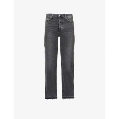 ペイジ PAIGE レディース ジーンズ・デニム ボトムス・パンツ Sarah high-rise straight leg stretch-cotton jeans DEEP END