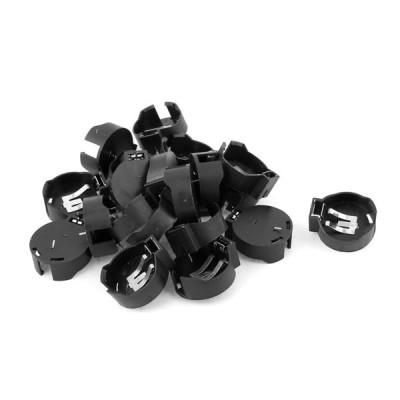 uxcell セルボタン電池ソケットホルダー バッテリーボックス ブラック プラスチック CR2450バッテリー適用 20個入り