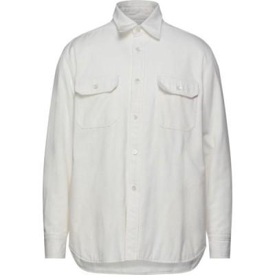 マウロ グリフォーニ MAURO GRIFONI メンズ シャツ トップス Solid Color Shirt Ivory