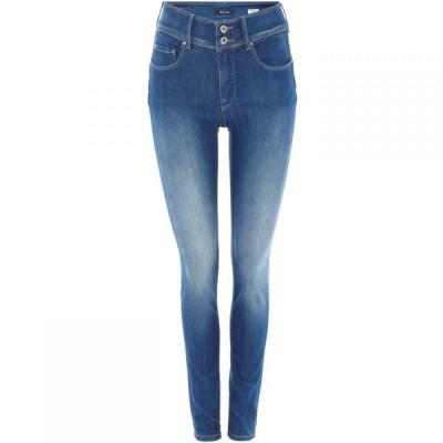 サルサ Salsa レディース ジーンズ・デニム スキニー ボトムス・パンツ Secret Push-In skinny jeans Denim Mid Wash
