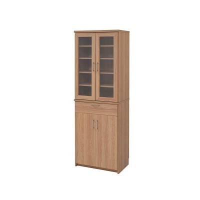 食器棚 幅60cm キッチン収納 食器収納 食品ストッカー 調理器具収納 木目 シンプル 機能的 収納家具 FAP-0020 送料無料