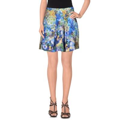 MAISON ESPIN ミニスカート ブルー M ポリエステル 95% / ポリウレタン 5% ミニスカート